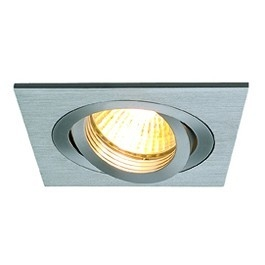 SLV New Tria MR16 Downlight Borstad aluminium Fyrkantig