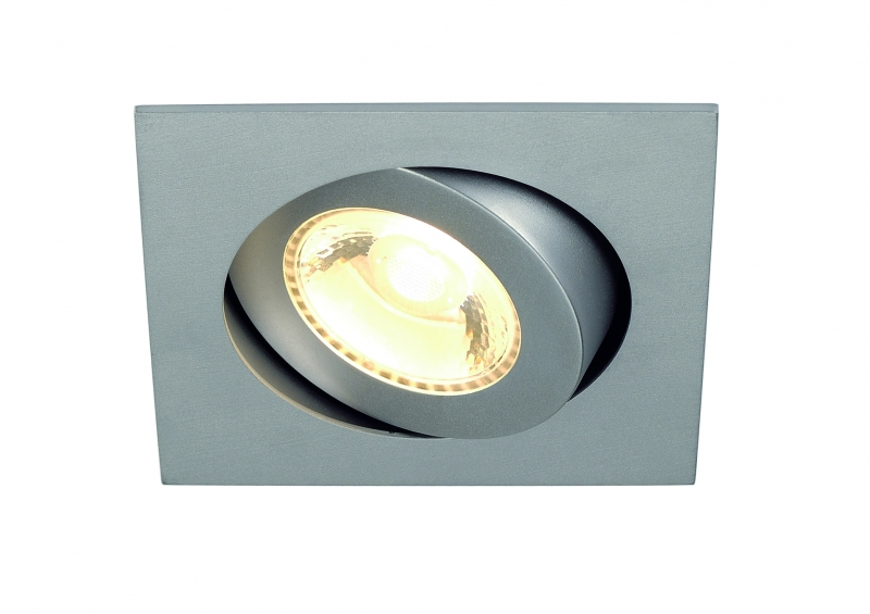 SLV Boost Turno Square LED silvergrå downlight