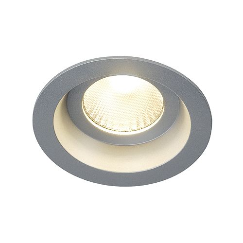 SLV Boost IP44 9W LED downlight Silvergrå