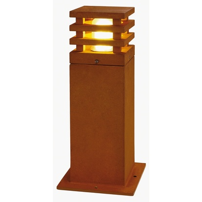 SLV Rusty LED square Pollare 40