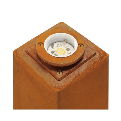 SLV Rusty LED square Pollare 70