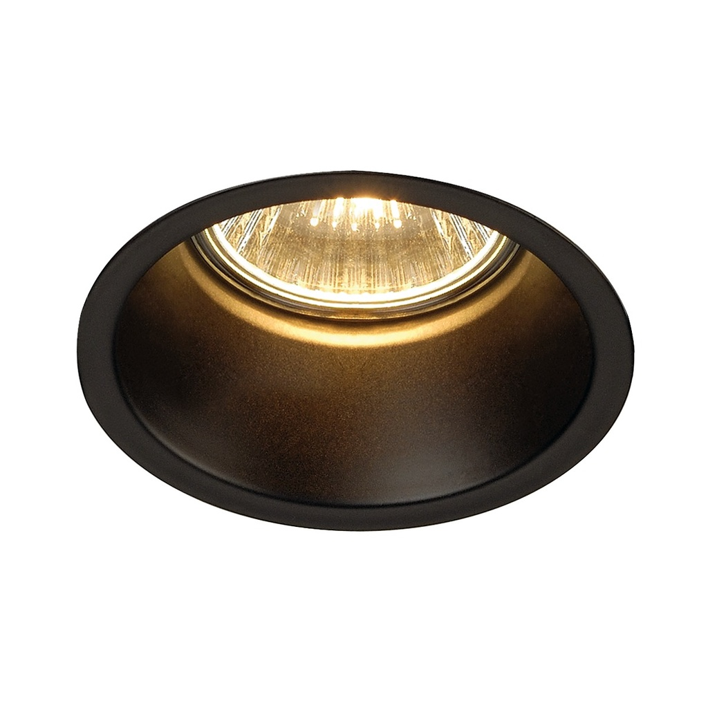 SLV Horn GU10 downlight Svart matt