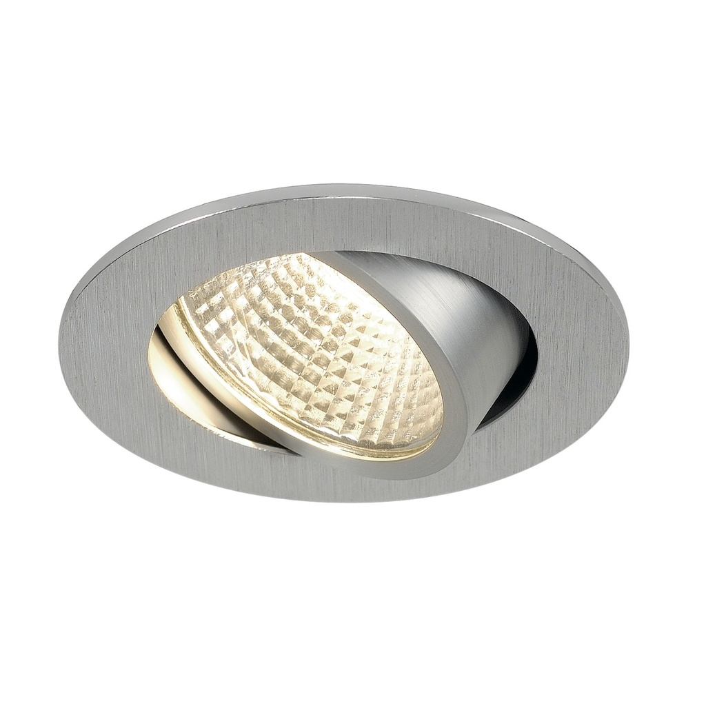 SLV New Tria 68 LED Downlight Borstad aluminium
