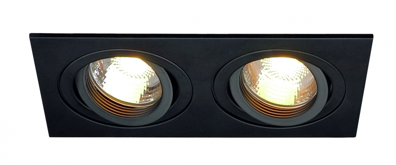 SLV New Tria 2 GU10 högvolt downlight Svart