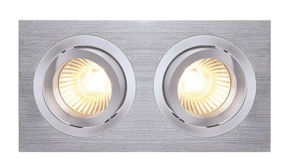SLV New Tria 2 MR16 lågvolt downlight Borstad Aluminium