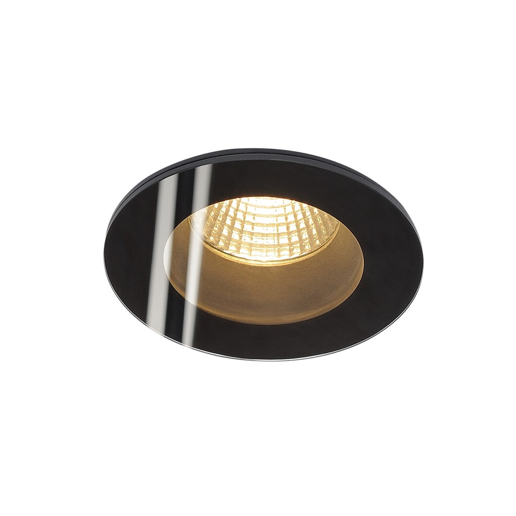SLV Patta-F Round Downlight Svart