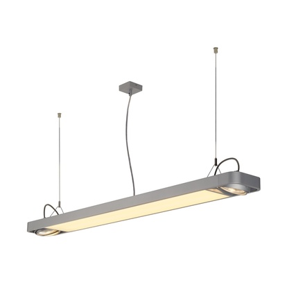 SLV Aixlight R2 Office LED 33,5W pendel Silvergrå