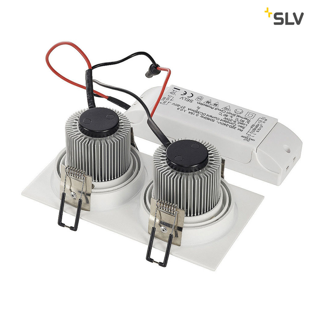 SLV New Tria 2 LED DL Square Kit downlight Vit 2700K