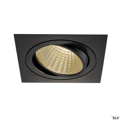 SLV New Tria LED Downlight Square Kit 3000K Svart