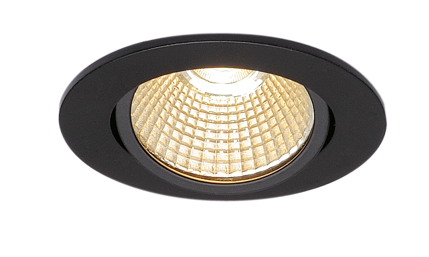 SLV New Tria 68 LED Downlight Triac rund Svart