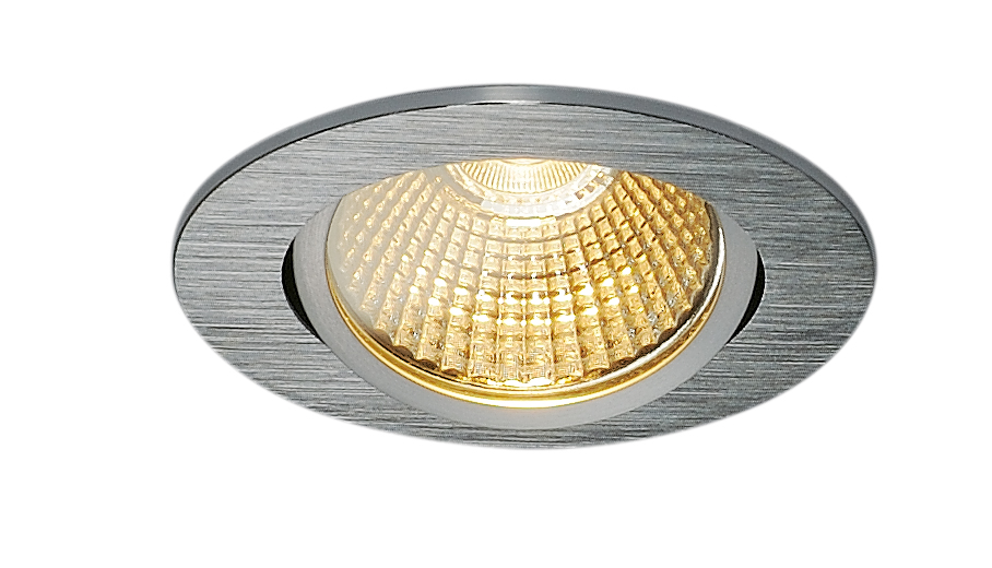 SLV New Tria 68 LED Downlight Triac rund Borstad aluminium