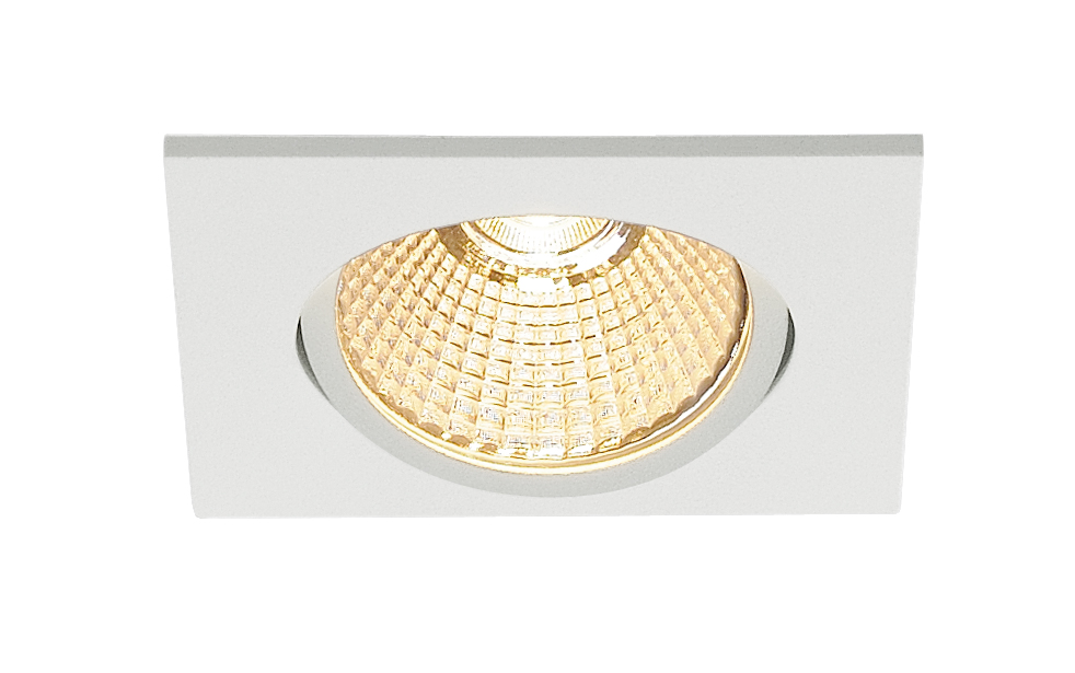 SLV New Tria 68 LED Downlight Triac fyrkantig Vit