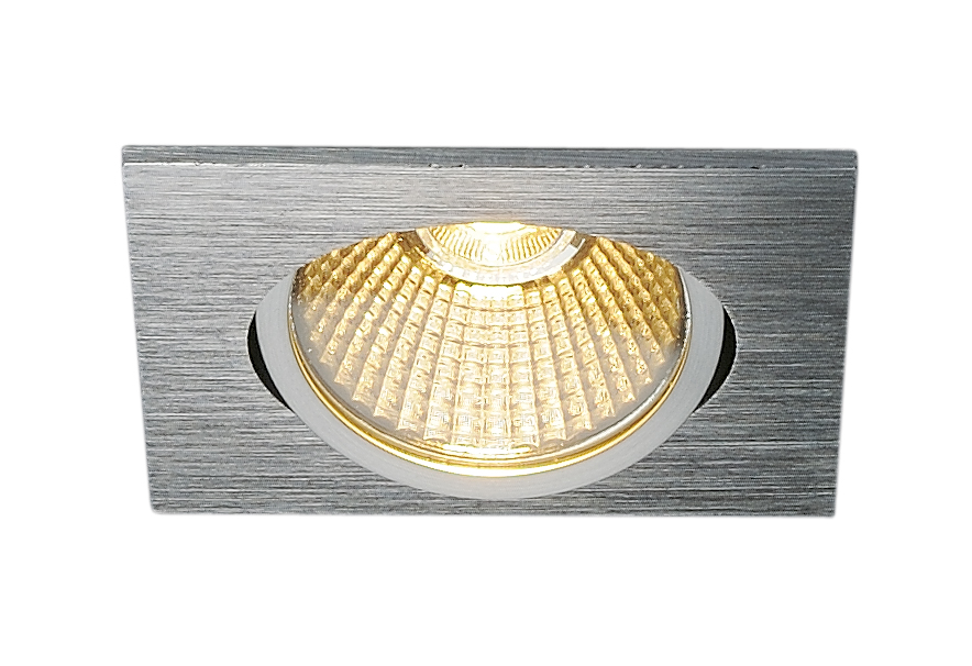 SLV New Tria 68 LED Downlight Triac fyrkantig Borstad aluminium