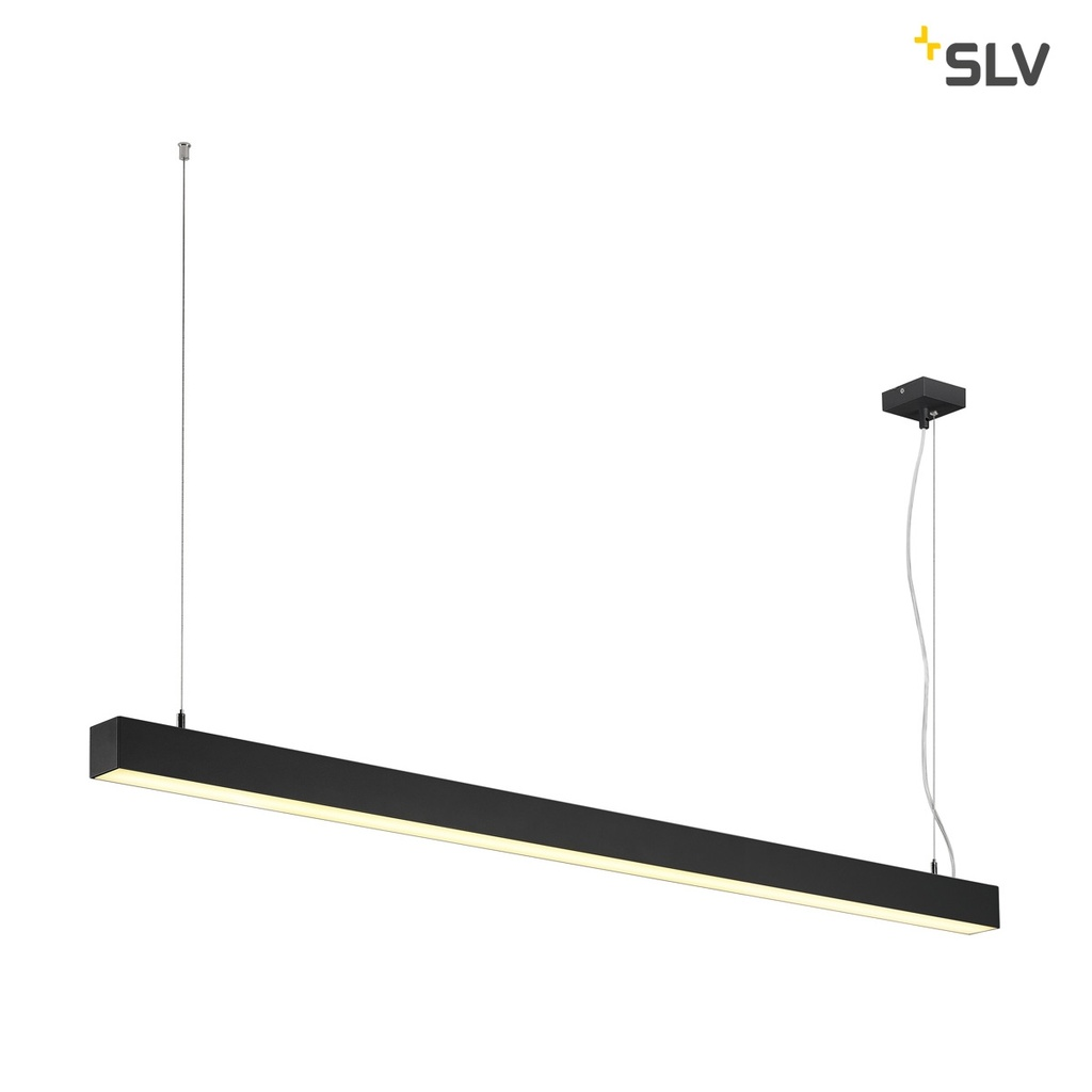SLV Q-Line Dali LED Single Pendel Dimbar Svart