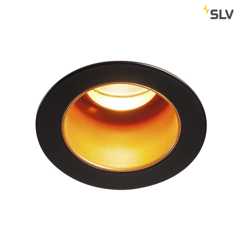 SLV Horn Medi LED downlight Svart / guld