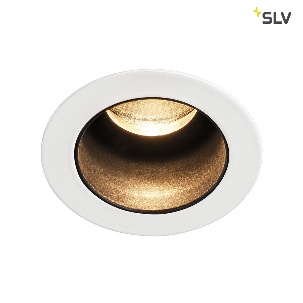 SLV Horn Medi LED downlight Vit / svart