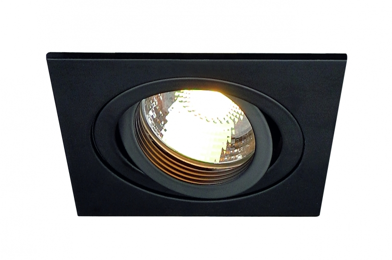 SLV New Tria GU10 Downlight Svart Fyrkantig