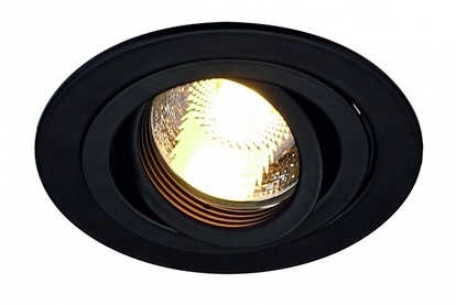 SLV New Tria GU10 Downlight Svart Rund