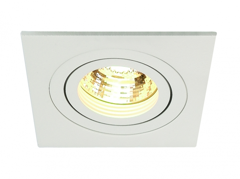 SLV New Tria GU10 Downlight Vit Fyrkantig