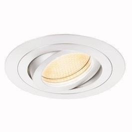 SLV New Tria GU10 Downlight Vit Rund