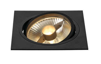 SLV New Tria ES111 högvolt Square downlight Svart