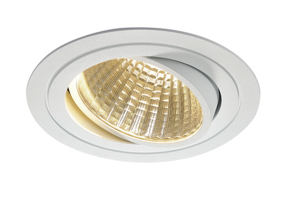 SLV New Tria LED Downlight Kit Round 3000K Vit