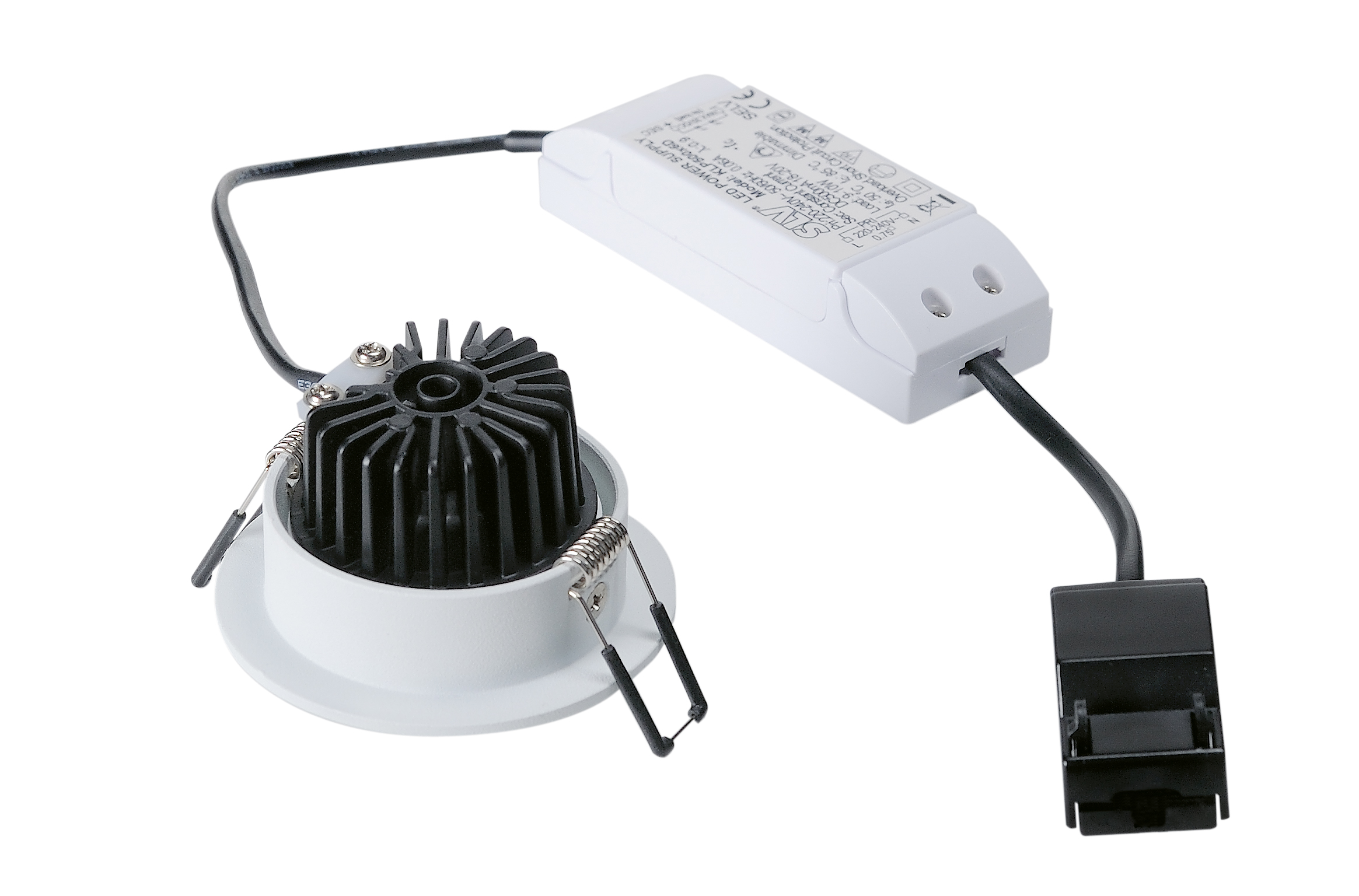SLV New Tria 68 LED Downlight Triac rund Vit