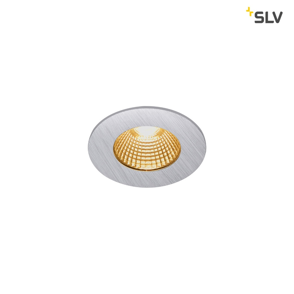 SLV Patta-I Round Downlight Dim to Warm Silver